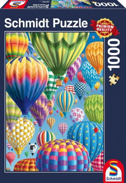 Colourful Balloons in the Sky. 1,000 piece Schmidt jigsaw.